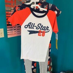 Carter's 4 piece boys pajama set. New with tags.
